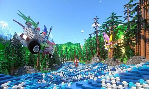 虚拟现实过山车-乐高乐园-360全景案例